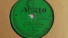 Jewish Yiddish 78rpm – The Barton Brothers– Apollo #169 Aribba