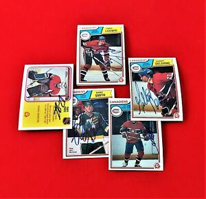 Autographed cards - Canadiens - Herron/Shutt - 1980's - OPC - NHL - Lot of 8
