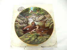 "Edwin M Knowles China Co ""The Gadwall"" Living With Nature Bart Jerner Duck Plate"