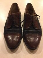 Johnston Murphy Leather Mens Shoes Sz 10M Made in Italy