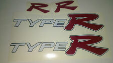 "HONDA Civic Type R Lato Gonna adesivi con anteriore e posteriore ""R"" Badge decalcomanie"