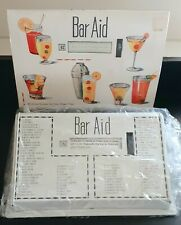 Vintage 1950s Bar Aid 80 Mixed Drink Cocktail Recipes New White in Box Barware