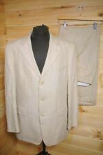 "HUGO BOSS Linen Suit Summer Natural Colour 42R 36"""