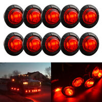 10X 12V OUTLINE ROUND SIDE MARKER LED LIGHTS LAMPS FOR LORRY TRAILER TRUCK Amber