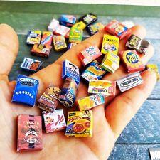 40x Mini Assorted Kitchen Accessories Box Dollhouse Miniature Food Cupboard Lot