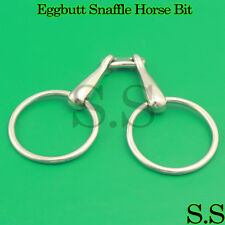 Eggbutt Snaffle Horse Bit Stainless Steel Size 5.5'' Silver, Bt-0034