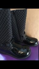 Pediped Toddler Girl Naomi Black Boots With Zipper 10-10.5 (27)