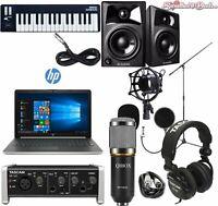 Home Recording Bundle HP Laptop Tascam M-Audio Studio Package Cubase