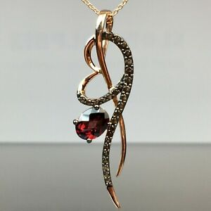 Le Vian 14k Rose Gold Rhodolite Garnet & Chocolate Topaz Pendant