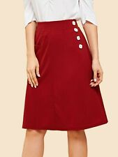Cute Red Skirt A-line Perfect for work/school/everyday! size M