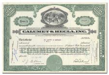 Calumet & Hecla, Inc. Stock Certificate
