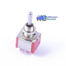 DPDT Mini Chrome Toggle switch 3A 250vac (On)-Off-(On)