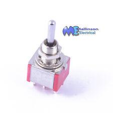 Dpdt Mini Cromo interruptor de palanca 3a 250vac (en) - Off - (EN)