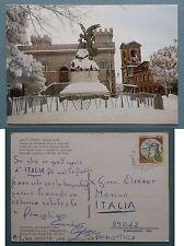 Rocca Priora - Piazza del Belvedere - Scorcio invernale 1987