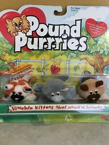 Pound Purrries Kittens-Pound puppies Galoob New in package- set 3 - 2 inch