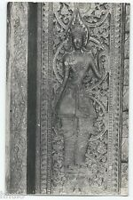BM350 Carte Photo vintage card RPPC Indochine bas relief temple détail sculpture