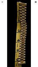 Rolex Genuine 18k Solid Yellow Gold Swiss Made President 20mm Bracelet Bark