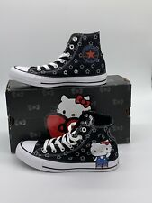 Women's Size 9 Converse x Hello Kitty Chuck Taylor All Star Hi Top Shoes 163919F