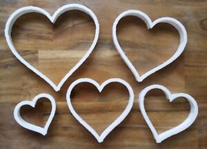 Heart Love Valentines Cookie Cutter Biscuit Dough Pastry Fondant Stencil 5 sizes
