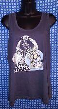 Star Wars A New Hope Retro Gray Razorback Sleeveless T-Shirt NWOT  Juniors Large
