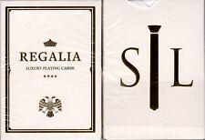 Regalia White Gold Luxury Playing Cards Poker Size Deck Shin Lim Cartamundi New