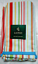 "RALPH LAUREN ""CANDY STRIPE"" NEW KING PILLOWCASE PAIR-100% COTTON"