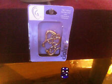 Claire's Claires Accessories Official 14G 1.63mm Gold Pattern Both Sides £9 RRP