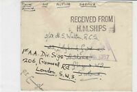 british maritime 10th feb 1942 censor ships post stamps cover ref 18737