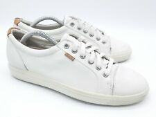 ECCO Womens Soft VII White Fashion Sneaker Size US 9 Casual Shoes (1297302)