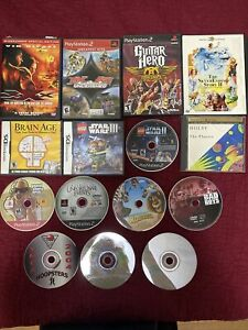 lot of ps2 nintendo ds games + movies