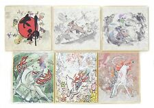 okami Card Paper 6pcs Set e-capcom limited art New RARE illustrations F/S Japan