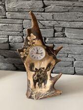 Damhirschschaufel, Handgravierte  Abwurfstange Uhr Damhirsch NEU 128293