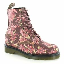 Low Heel (0.5-1.5 in.) Block Lace Up Floral Boots for Women