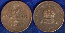 3 CENTESIMI 1822 FRANCESCO I LOMBARDO VENETO #9226