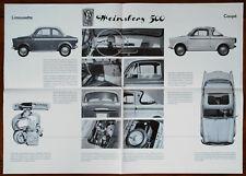 NSU/Fiat 500 Weinsberg brochure prospekt, 1959 (German text)