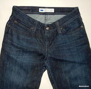 womens W28x L31 (7M) Levi's Bold Curve Flared Jeans Stretch Denim Red Tab Dark