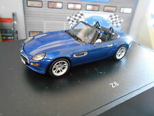 BMW z8 v8 5.0 e52 roadster cabriolet 2000–2003 Bleu Blue Minichamps rar 1:43