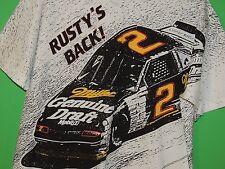 "VTG Rusty Wallace Miller Men's Size XL Extra Large ""Rusty's Back"" NASCAR T Shirt"