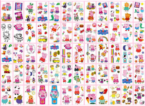 Peppa Pig Tattoo Sticker - Kids party and easy washable, temporary tattoos