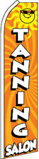 """TANNING SALON"" super flag swooper banner advertising sign flutter"