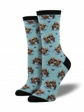 Otters Socks Significant Otter Holding Hands in the River Shoe Size 6-12 Women's