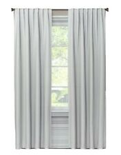 Threshold Checkered Gray 99.9% Blackout Curtain Panel - 63 L in x 50 in W