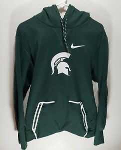 Mens Nike NCAA Michigan State Spartans Long Sleeve Pullover Hoodie Size Large L