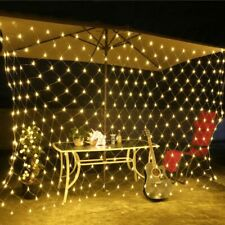 Christmas LED Net Mesh String Light Window Curtain Outdoor Garden Plug In