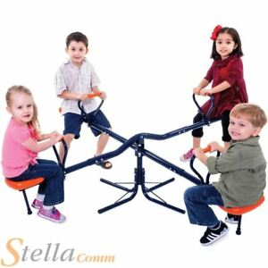 Hedstrom Kids Roundabout Rotating Adjustable 4 Person Seesaw Childrens Playset