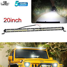 Slim 20inch 520W Single Led work Light Bar Spot Flood Offroad SUV TRUCK PK Quad