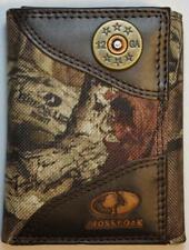 ZEP PRO 12 gauge Shot Gun Shell MOSSY OAK Camo Trifold Wallet TIN BOX