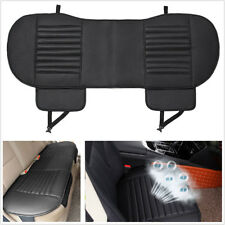 3pc Universal Car Seat Cover Bamboo Charcoal Breathable PU Leather Seat Pad Mat