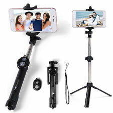 Extendable Selfie Stick Tripod Remote Bluetooth Shutter For iPhone 8 Plus X 7