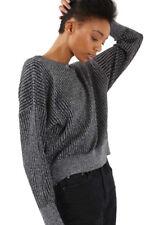 TOPSHOP Metallic Batwing Sweater Size 2 #H852